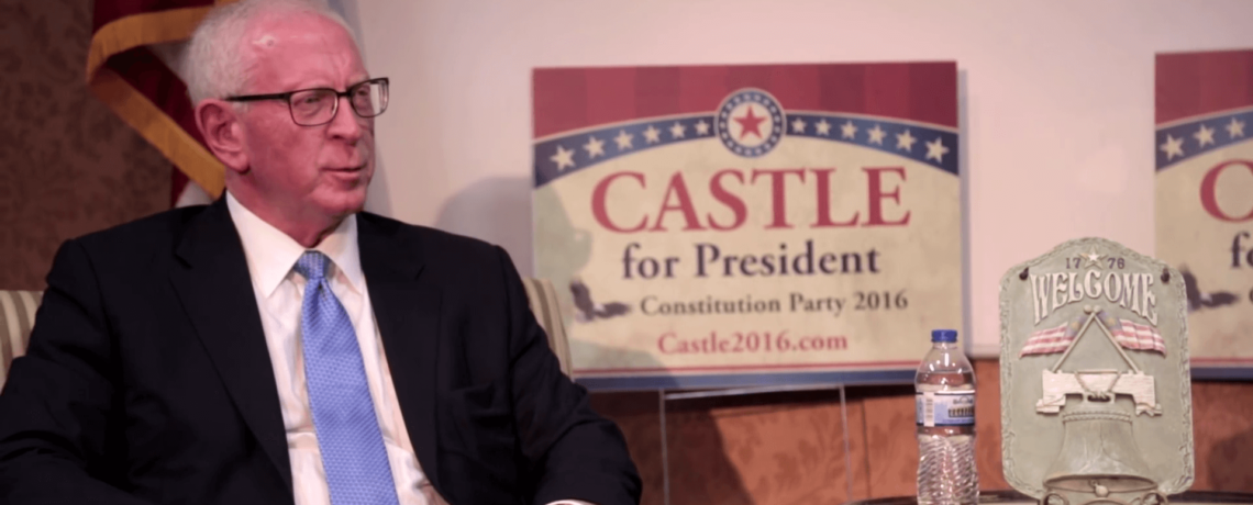 Constitution Party Nominee for President, Darrell Castle interviewed September 17, 2016, Branson, MO